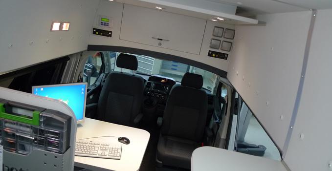 Allestimento di furgoni per uso professionale